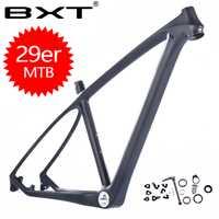 Envío Gratis 2018 BXT marca T800 carbono mtb marco 29er mtb carbono marco 29 carbono bicicleta de montaña * 142*12 o 135*9mm