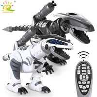 HUIQIBAO juguetes RC dinosaurio Walking Robot con luz de la canción control remoto Rc Animal juguetes de baile inteligente para regalos de niños