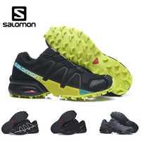 Haute Qualité Salomon Hommes Chaussures Speed Cross 4 CS sneakers Hommes Cross-Country Chaussures Noir Speedcross 4 Jogging Chaussures de Course Chaussures
