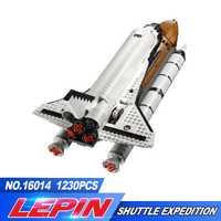 DHL Lepin 16014 1230 pcs Navette Spatiale Expédition Modèle Kits de Construction Blocs Briques Jouets Pour Enfants Compatible legoed 10231