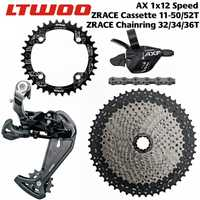 LTWOO bicicleta AX12 12 Velocidad Kit palanca + desviadores + 50 T 52 T ZRACE Cassette/plato + SUMC S12 cadena grupo... para águila 12