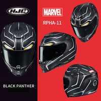 HJC casco RPHA 11 de fibra de carbono veneno casco MARVEL veneno de segunda generación de araña negra Pantera casco de hierro hombre la muerte de camarero