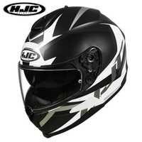 2019 nuevo Oxford HJC C70 Casco de cara completa Kasko Casco con ventilación Anti-niebla lente moto rcycle moto rbike шлем moto casco