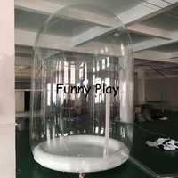 Gigante globo de nieve acto perfecto baile bola para el evento mostrar transparente inflable claro Camping de tiendas de campaña