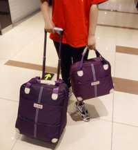 Bolso de viaje con ruedas para mujer, maleta para equipaje, bolso de viaje, ruedas, Maleta, bolso de viaje con ruedas y bolso de mano
