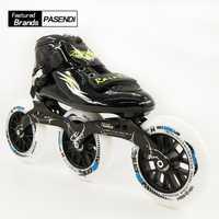 Velocidad profesional patines zapatos 3X125 marco patinaje en línea botas adultos niño patines 125mm ruedas PASENDI vidrio zapatos de fibra
