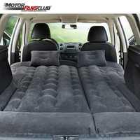 164*132cm SUV lit de voyage de voiture gonflable Camping matelas d'air réglable housse de siège oreiller flocage tissu aérer les enfants en plein Air