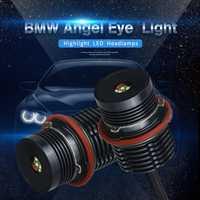 2 piezas 80 W LED Ojos de Ángel coche LED Halo anillo marcador bombillas de luz 12 V 6000 K blanco Auto para BMW E39 E60