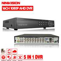 Univision CCTV DVR 16Ch Digital Video Recorder AHD 16 canal 1080 p híbrido seguridad casera DVR 2.0MP salida HDMI Onvif p2P