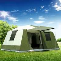 Haute qualité 10 personnes Double couche 2 chambres 1 Hall grand extérieur famille fête tentes grand espace étanche Camping tente Carpas