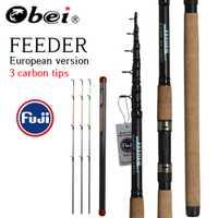 OBEI de caña de pescar telescópica girando de viajes rod 3,3 de 3,6 m de vara de pesca de la carpa de 60-180g polo