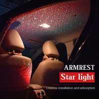 1 Unidades Interior del coche Kit de iluminación del coche reposabrazos caja estrellas lámpara de decoración de interiores de la atmósfera para audi BMW Ford