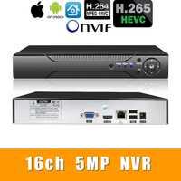 H.265 +/H.264 16ch * 5.0MP NVR red Vidoe grabadora Análisis Inteligente 1080 P/720 P cámara IP con cable SATA ONVIF CMS vmeyesuper de