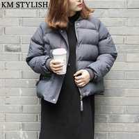 Alta calidad Chaqueta corta chaqueta invierno mujeres abajo algodón delgado con capucha caliente parka abrigos