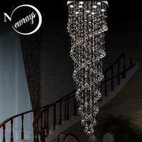 Retro loft lámpara Europa cristal con GU10 9 luces moderno art deco salón dormitorio hotel restaurante lobby Oficina