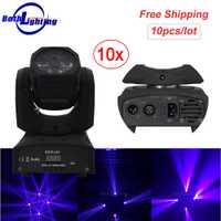 De alta potencia Mini RGBW LED 4X10 W LED haz cabeza móvil luz LED fuerte rayo de luz para fiesta disco de DJ Luz
