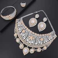 Missvikki 4 piezas estilo bohemio brillante completa conjunto de joyas de Zirconia cúbica para las mujeres de la Boda nupcial Enaggement fiesta de aniversario