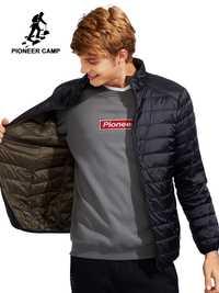 Pioneer Camp réversible bas veste hommes marque-vêtements ultra lumière compressible duvet de canard manteau mâle ultra mince top qualité