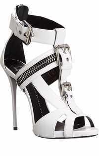 Zapatos súper altos zapatos de mujer Zapatos de tacón alto Sexy transparente Correa hebilla verano Sandalias Zapatos de tacón alto Mujer Zapatos de fiesta Zip B