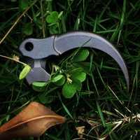 EDC aleación de titanio cuchillo cuentas un colgante Paracord exterior DIY decoraciones titanio Camping engranaje supervivencia EDC herramientas multifunción