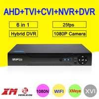 1080 P CCTV Cámara vmeyesuper de Hi3520D 4 canales 4CH 1080N 25fps 6 en 1 híbrido Coxail NVR TVI CVI AHD DVR de vigilancia grabadora de vídeo
