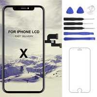 1 unid reemplazo para iphone X/XS MAX/XR pantalla LCD AAA/Tianma/AMOLED /OEM pantalla digitalizador Asamblea LCD negro No píxel muerto