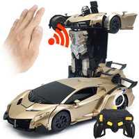 Coche Rc Drift 2In1 Auto Control 4wd gran coche Rc remoto Kit juguete transformación Robots remoto deformación sin escobillas nitro del juguete