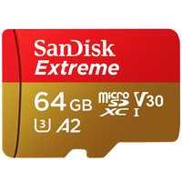 SanDisk Extreme Micro sd 32 GB 64 GB 128g SDXC/tarjeta de memoria SDHC tarjeta microSD TF tarjeta Class10 u3 w adaptador tarjeta sd tarjeta