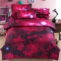 Hipster galaxia ropa de cama universo espacio exterior galaxia temática impresión hoja de cama ropa de cama tamaño Queen barato caliente