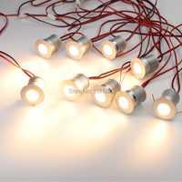 9 unids/set LED bajo el gabinete de iluminación regulable Mini LED de escaparate empotrado iluminación bajo estante de mostrador muebles cocina luces 3W