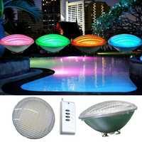 LED par56 piscina luz 54 W 12 V 24 V RGB IP68 18led Piscina luz Iluminación de exterior subacuática estanque Luz piscina CE RoHs