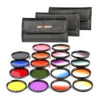 18 unids/set Cámara filtros de lente de protección para Canon Nikon SLR DSLR 58mm #2