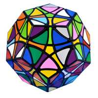 YKLWorld Noir Hélicoptère Dodécaèdre Gigaminx Magic Cube DIY Autocollants Puzzle Vitesse Cubes Jouets Éducatifs Pour Enfants (W0