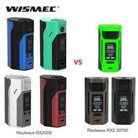 Original Wismec Reuleaux RX200S TC 200 W MOD vs Reuleaux RX2 20700 caja MOD potencia por batería 18650