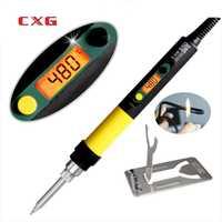 CXG DS110S DS90S DS60S alta calidad digital soldador eléctrico 110 W con retroiluminación soldador C9 serise Sting consejos