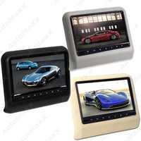 Feeldoe 2 piezas 9 pulgadas (16:9) coche reposacabezas monitores LCD Digital AV 9