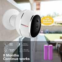 SMARSECUR alambre libre cámara IP 720 P HD no Alambre de 6400 mAh 8 meses de seguridad ip inalámbrica WiFi cámara con batería