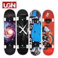 Ugin Freestyle impresión calle 19 cm largo Skateboarding completo estilo graffiti de madera profesional monopatín patineta Arce