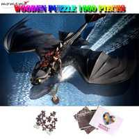 MOMEMO comment former votre Dragon en bois 1000 pièces Anime Puzzle adultes dessin animé Jiagsaw Puzzle hoquet et nuit fureur Puzzle jouets