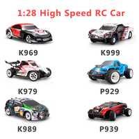 Wltoys 1:28 RTR RC coche 2,4g 4WD 4 canales 30 km/h RC coche de carreras K969/K979/K989/K999/P929/P939 6 estilos para la selección