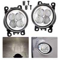 CITALL 2 piezas relieve LED blanco luz de niebla reemplazo de lámpara para Ford Focus c-max Acura Infiniti Honda nissan Subaru Suzuki