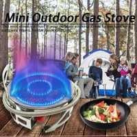 B15 Mini estufa de Gas al aire libre potente cocina plegable Camping quemador dividida