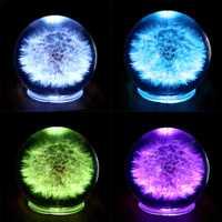Caja de música Bluetooth diente bola cristalina colorida de la noche la luz para vacaciones decoración del hogar regalo