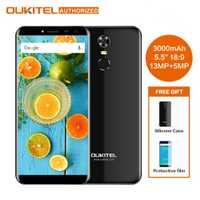 LIQUIDATION Oukitel C8 5.5 pouces 18:9 téléphone portable MTK6580A Quad Core 2 GB RAM 16 GB ROM 13MP Android 7.0 3000 mAh Tactile ID Smartphone