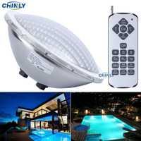 Ac12v par56 25 W remoto RGB Natación LED piscina luces bombilla Luces subacuáticas ahorro 95% garantía 2 años