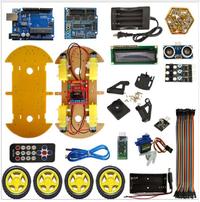 UNO Robot Car Kit Bluetooth chasis traje Tracking Compatible UNO R3 DIY RC toy robot electrónico