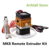 3D impresora piezas nuevos MK8 extruder kit con 3D V6 hotend alimentación de teflón tubo extrusora J cabeza 1.75mm