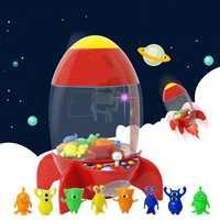Mini dulces Grabber Catcher máquina de la garra de música de grúa Arcade consola de juego de los niños consola juguetes agarrar máquina como regalos