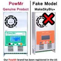 Contrôleur de Charge et de décharge solaire PowMr MPPT 60A 50A 40A 30A 12V 24V 36V 48VAuto pour batterie au Lithium au plomb PV 190VDC Max