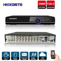 CCTV DVR 16Ch Digital Video Recorder 16 canal H264 Home seguridad DVR 1080 p HDMI salida 16CH AHD 2.0mp híbrido 5 En 1 HD DVR